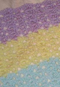 Coconut Candy Blanket Detail
