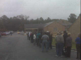 Voters wait in long lines, rain in Statesboro, Ga. by PalmettoScoop.