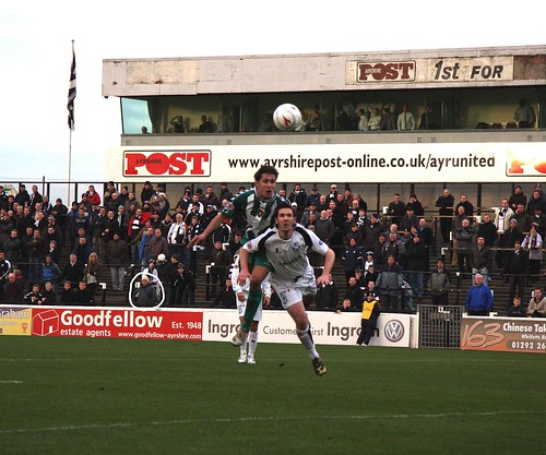 Me at Ayr United vs. East Fife