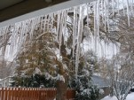 Icicles at the Front Door