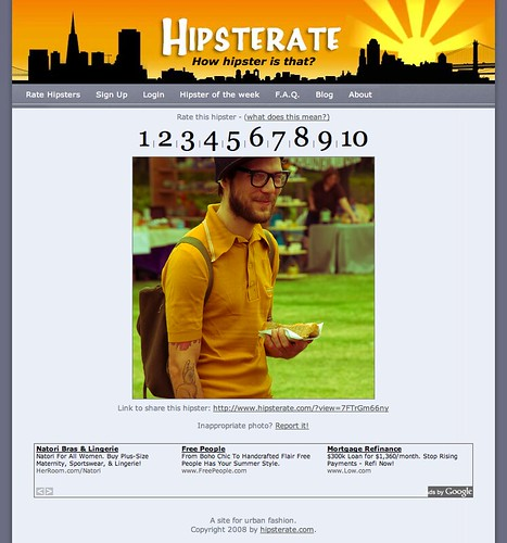Hipsterate - Rate a Hipster