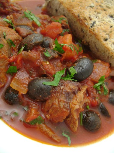 Lamb , Olive & Tomato Stew with Olive Bread