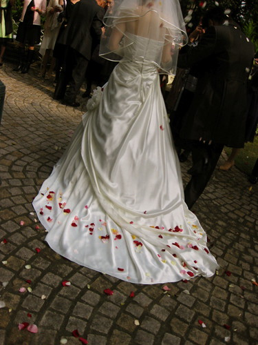 petals on the dress