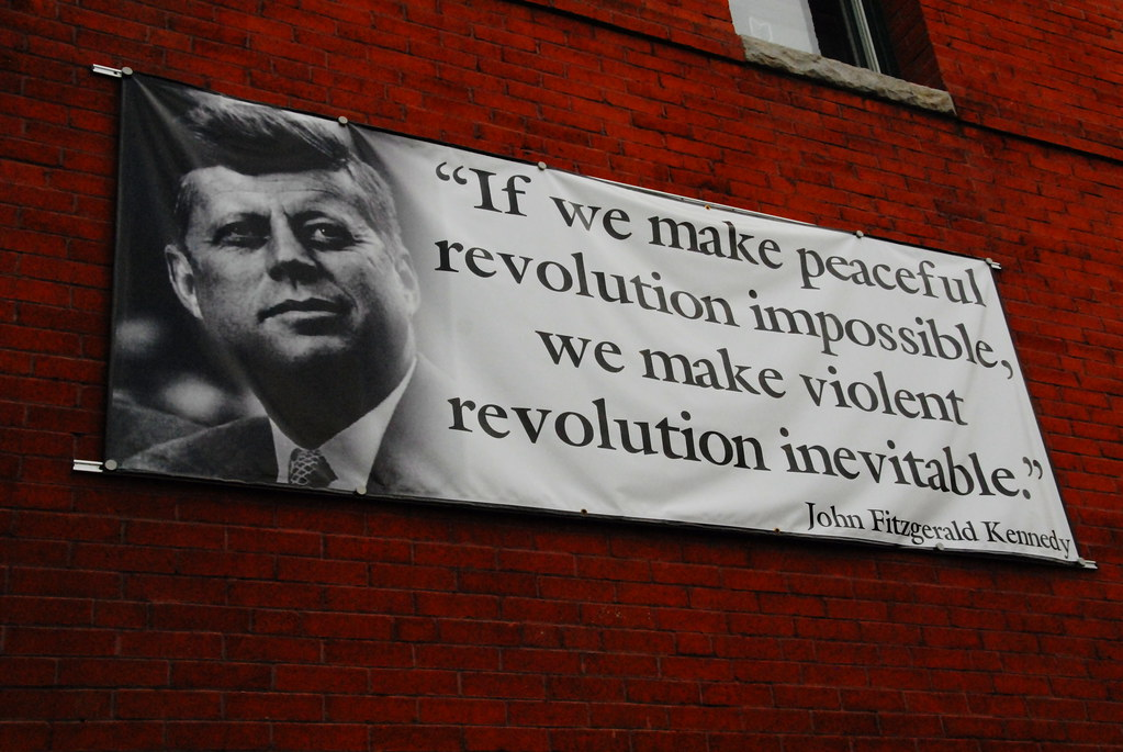 Banner of Kennedy quote, Pueblo, Colorado, by Wavy1