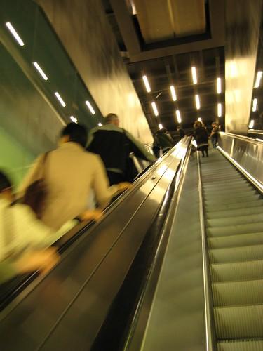 escalator at the Tate Modern