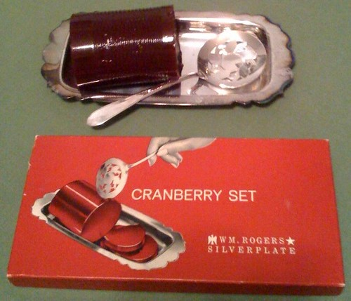 Cranberry and silver by W.M. Rogers