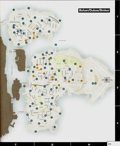 GTA IV Pigeons Map (Bohan-Dukes-Broker)