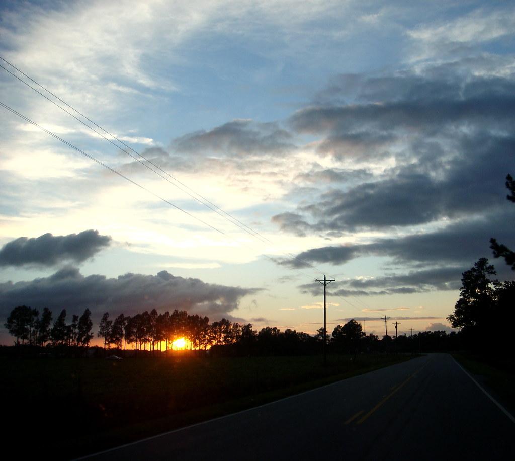Sunset on the way home, three