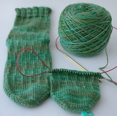 Tipsy Sock #2 in progress