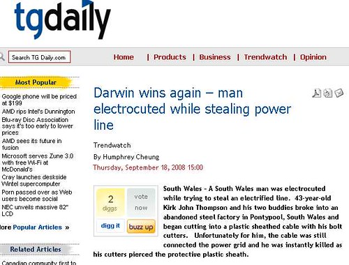 Darwin wins again