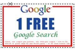 Google Search Coupon: 1 FREE Google Search