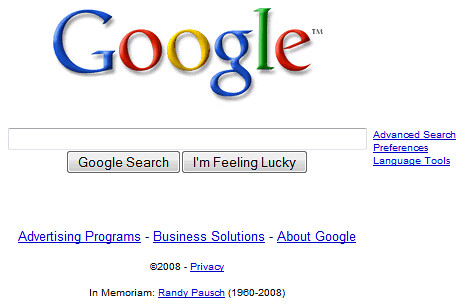 google-homepage-in-memoriam-randy-pausch by TrendsSpotting.