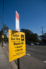 Cityrail Trackwork Bus Stop Sign