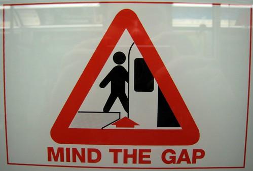 Standard warning sign on the TTC