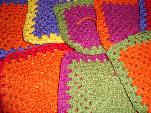 Granny Squares - Crocheting
