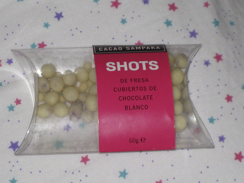 Shots de fresa y chocolate