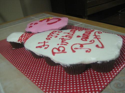 Bowling Pin and Ball Cupcake Cake