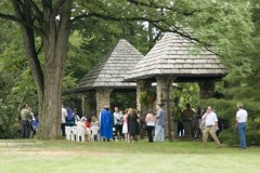 The outdoor ceremony site.