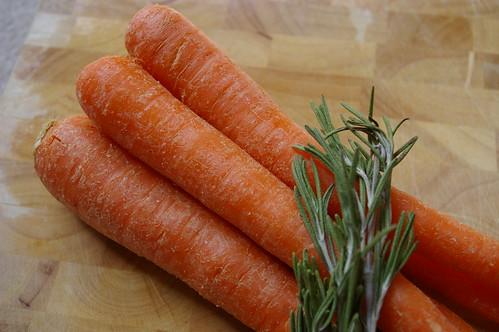 carrots and rosemary