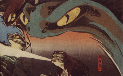 Utagawa Kuniyoshi (1797-1861), Gama Sennin, the Toad Spirit, detail 2 by A Journey Round My Skull.
