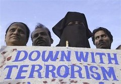 Muslims in Mumbai protest against terrorism