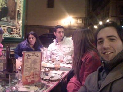 Durante la cena del segundo día