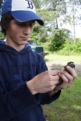 Kyle with Rose-breasted Grosbeak