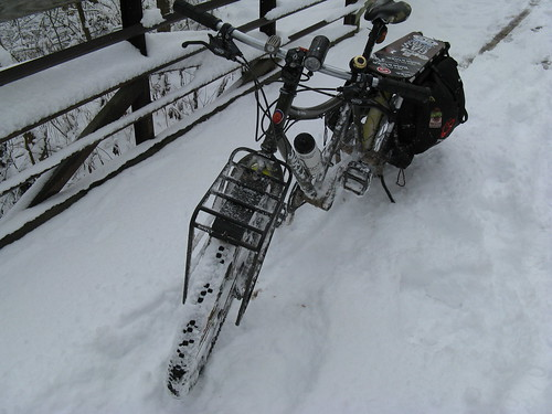 Snow on the Bike Path by you.