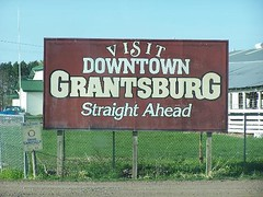 Visit Downtown Grantsburg Sign