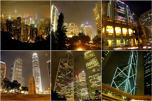 HK tower collage