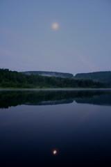 Moonrise Over Keyser Lake