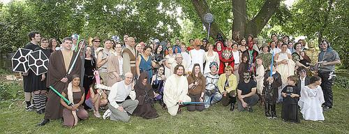 Star Wars Wedding Group Photo