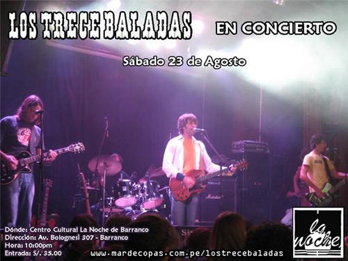 Afiche Los Trece Baladas