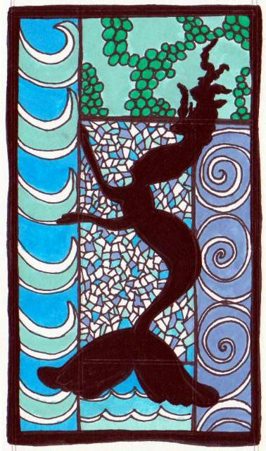 Mermaid Stained Glass Art