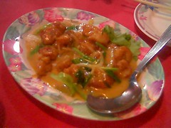 Sibu's Ruby butter scotch prawn balls