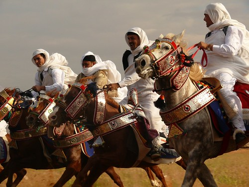 Libyan Horsemen in Traditional Cloth