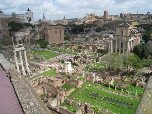 Roman Forum as seen from Palantine Hill