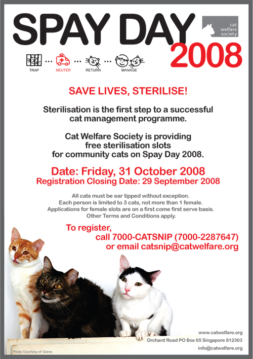 Spay Day Poster 2008