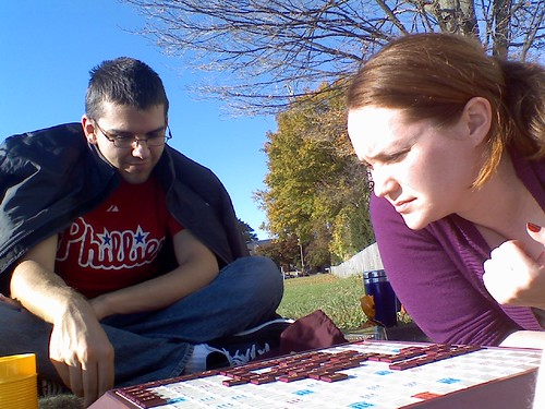 scrabble game outside