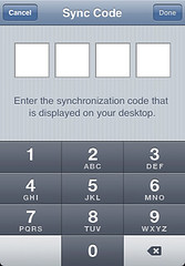 iPhone Sync Code