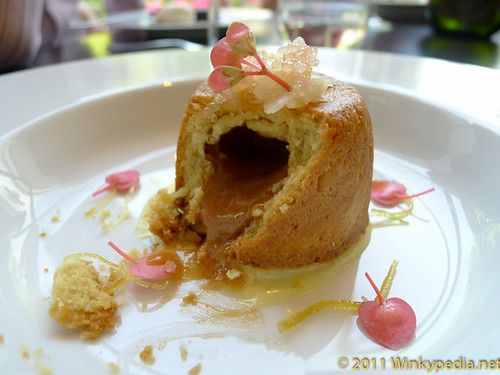 Baked Lemon Suet Pudding at Dinner by Heston