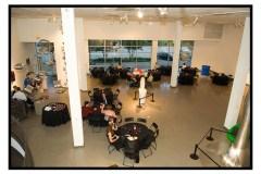The very modern venue.