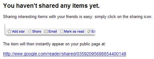 Friendfeed - Google Reader Shared Items