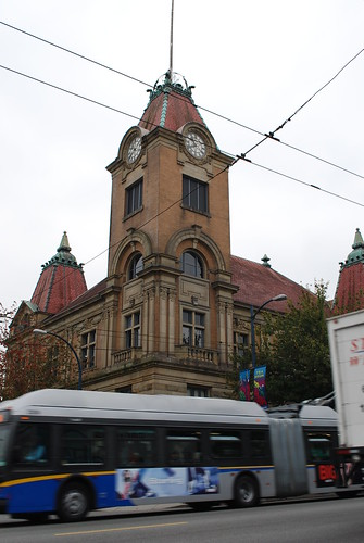 Heritage Hall and new articulated trolley