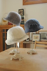 hat making--another batch.