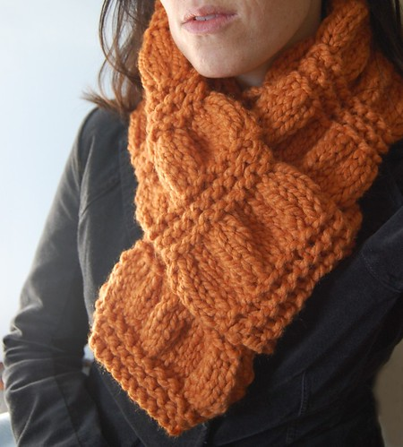 orange scarf for my etsy shop