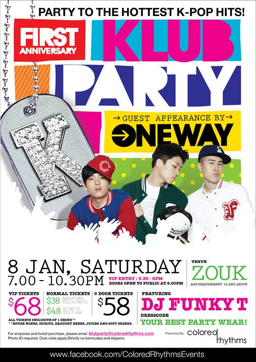 Oneway for Klub Party