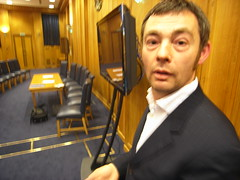 A picture of Jem Stone in the BBC Council Chambers