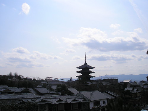 Kyoto rooftops and Yasaka Pagoda