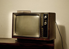 yet another shot of the old tv in chinook motel